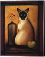 Framed Cat I Fine Art Print