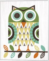 Folk Lodge Owl Earth Fine Art Print