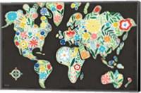 Floral World Black Fine Art Print