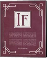 If by Rudyard Kipling - Ornamental Border Red Fine Art Print