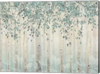 Dream Forest I Silver Leaves Fine Art Print