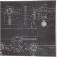 Plane Blueprint III No Words Post Fine Art Print
