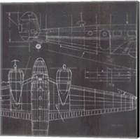 Plane Blueprint II No Words Post Fine Art Print