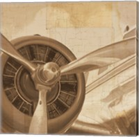 Travel by Air II Sepia No Words Fine Art Print