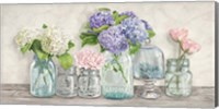 Flowers in Mason Jars Fine Art Print