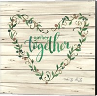 Gather Together Heart Wreath Fine Art Print