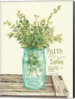 Faith, Hope, Love and Eucalyptus Fine Art Print