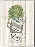 Grow with Love Succulents Fine Art Print