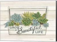 Beautiful Life Succulents Fine Art Print