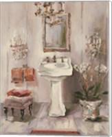 French Bath III Gray and Blush Fine Art Print