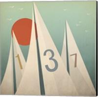 Sails VII with Sun Fine Art Print