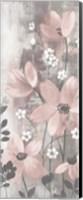 Floral Symphony Blush Gray Crop I Fine Art Print