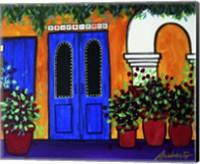 Mexican Blue Door Fine Art Print