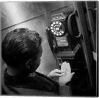 1940s 1950s Man Counting Change Fine Art Print