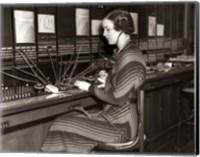 1930s Woman Telephone Operator Fine Art Print