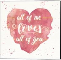 Happy Hearts I Pink Fine Art Print