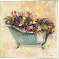 Bathtub Bouquet I Fine Art Print