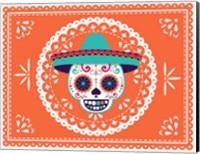Calavera Orange Fine Art Print