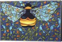 Bee And Blue Birds Fine Art Print