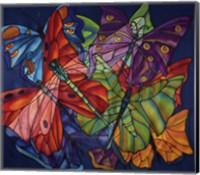 Dragonflies And Butterflies Fine Art Print