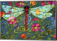 Red Dragonfly Fine Art Print