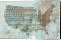Vintage USA Map Fine Art Print