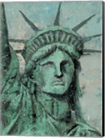 Statue Of Liberty Portrait Fine Art Print
