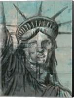 Statue Of Liberty Charcoal Fine Art Print