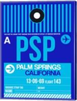 PSP Palm Springs Luggage Tag II Fine Art Print