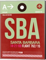 SBA Santa Barbara Luggage Tag II Fine Art Print