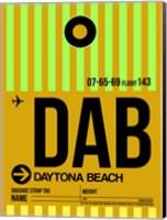 DAB Daytona Beach Luggage Tag I Fine Art Print
