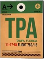 TPA Tampa Luggage Tag I Fine Art Print