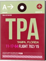 TPA Tampa Luggage Tag II Fine Art Print