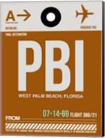 PBI West Palm Beach Luggage Tag II Fine Art Print