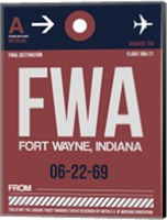 FWA Fort Wayne Luggage Tag II Fine Art Print