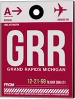 GRR Grand Rapids Luggage Tag II Fine Art Print