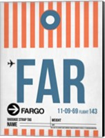 FAR Fargo Luggage Tag II Fine Art Print