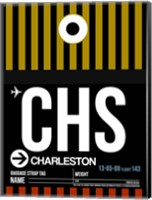 CHS Charleston Luggage Tag I Fine Art Print