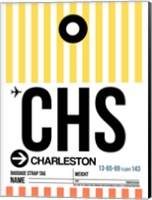 CHS Charleston Luggage Tag II Fine Art Print