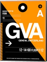 GVA Geneva Luggage Tag II Fine Art Print