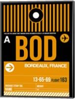 BOD Bordeaux Luggage Tag II Fine Art Print