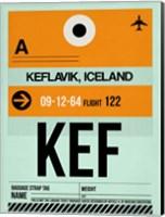 KEF Keflavik Luggage Tag II Fine Art Print