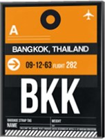 BKK Bangkok Luggage Tag I Fine Art Print