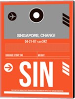 SIN Singapore Luggage Tag II Fine Art Print