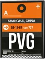 PVG Shanghai Luggage Tag II Fine Art Print