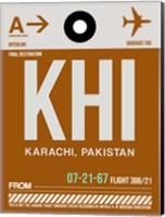 KHI Karachi Luggage Tag II Fine Art Print