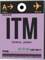 ITM Osaka Luggage Tag I Fine Art Print