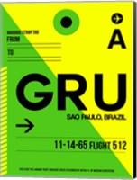 GRU Sao Paulo Luggage Tag I Fine Art Print
