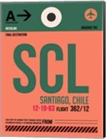 SCL Santiago Luggage Tag I Fine Art Print