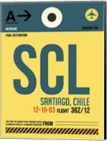 SCL Santiago Luggage Tag II Fine Art Print
